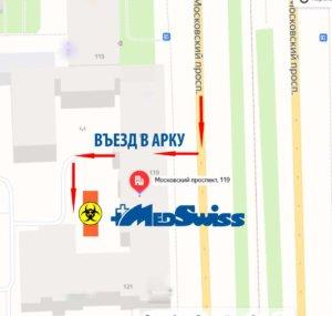 MEDSWISS -карта проезда М119